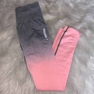 Gymshark Large ombre pink to grey leggings